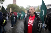 Heinz Meyer - PEGIA leader of Munich - joining neonazi rally.