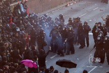 Police pushes towards frontblock