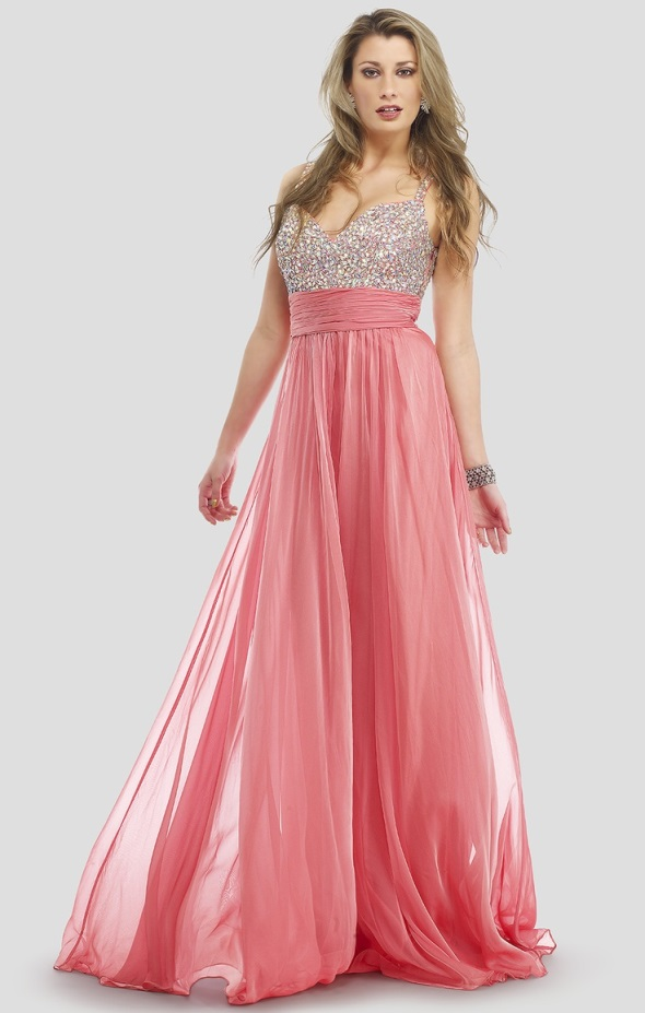 Pink sparkly prom dresses looks  B2B Fashion