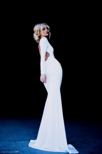 White long sleeve backless prom dress 2016-2017 | B2B Fashion