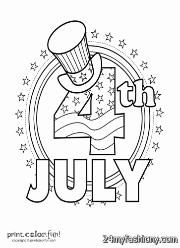 4th Of July Coloring Pages Printable images 2016-2017