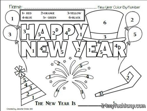 New Years Day Coloring Pages Sketch Coloring Page