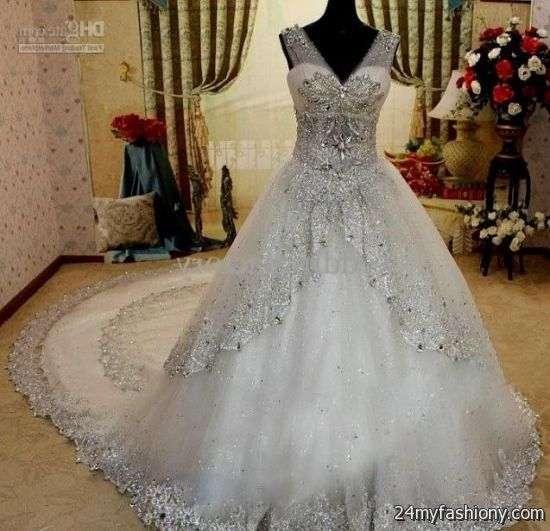 Ball gown wedding dresses with sleeves and bling looks  B2B Fashion