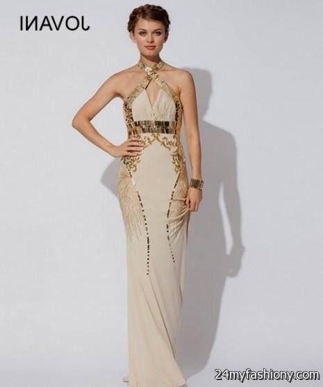 Beige and Black Prom Dresses