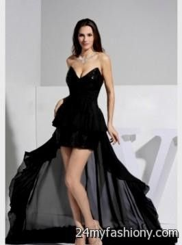 black and silver high low prom dresses 2016-2017 » B2B Fashion