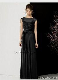 black chiffon bridesmaid dresses long 2016-2017 | B2B Fashion