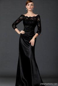 black formal dresses with sleeves 2016-2017 | B2B Fashion