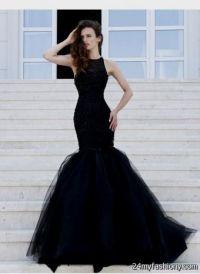 Mermaid Prom Dresses 2015 Black