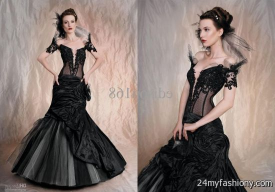 Black Mermaid Wedding Dress Looks
