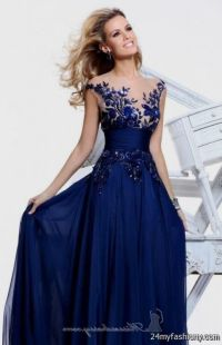 blue lace prom dresses tumblr 2016-2017 | B2B Fashion