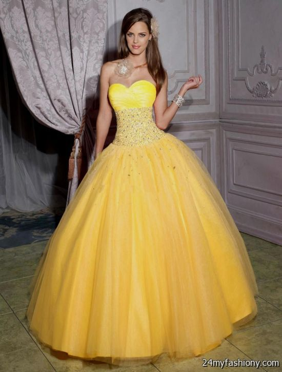 bright yellow quinceanera dresses looks  B2B Fashion