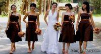 brown and orange bridesmaid dresses 2016-2017 | B2B Fashion