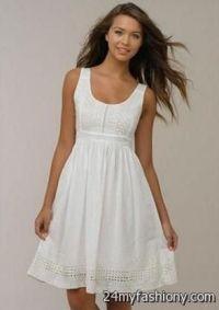 casual white summer dress 2016-2017 | B2B Fashion