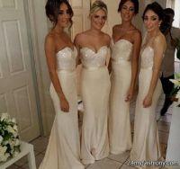 Bridesmaid Dresses Champagne Colour Uk - Flower Girl Dresses