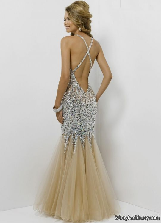 champagne open back prom dress 2016-2017 » B2B Fashion