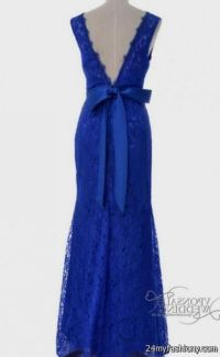cobalt blue lace prom dress 2016