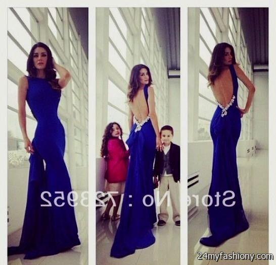 cobalt blue open back prom dress 2016-2017 » B2B Fashion