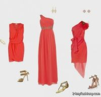 coral and gold bridesmaid dresses 2016-2017 | B2B Fashion