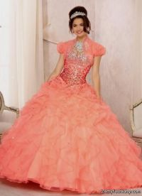 coral pink quince dresses 2016-2017 | B2B Fashion