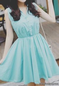 cute casual blue dresses tumblr 2016-2017 | B2B Fashion