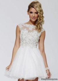 cute prom dresses short white 2016-2017 | B2B Fashion