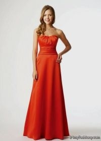 dark orange bridesmaid dress 2016-2017 | B2B Fashion