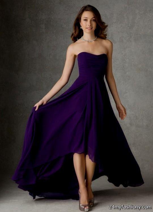 dark purple dresses looks  B2B Fashion