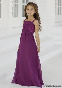 Purple Junior Bridesmaid Dress | dark purple junior ...