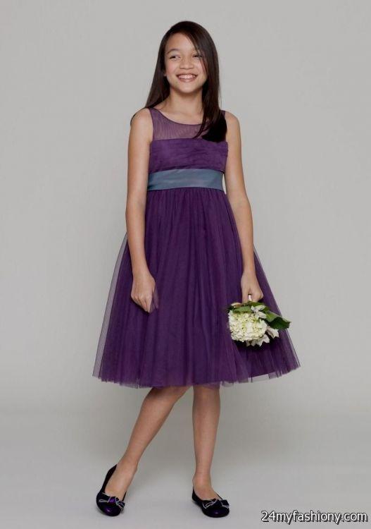 dark purple junior bridesmaid dresses 2016-2017 » B2B Fashion