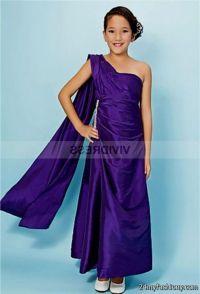 dark purple junior bridesmaid dresses 2016-2017 | B2B Fashion