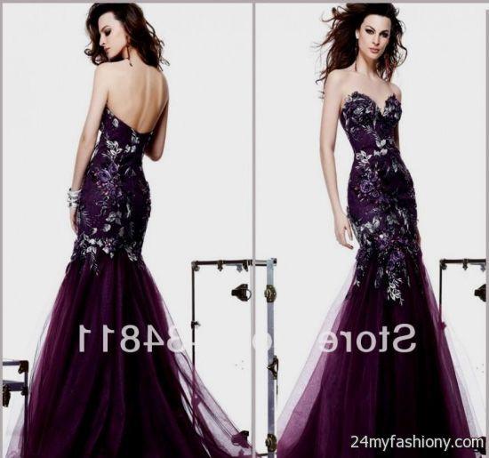 dark purple lace prom dress 2016-2017 » B2B Fashion