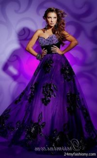 dark purple prom dresses with sleeves 2016-2017 | B2B Fashion