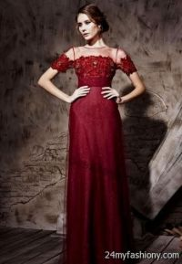dark red lace bridesmaid dresses 2016-2017 | B2B Fashion