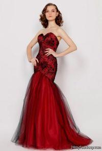 dark red mermaid prom dresses 2016-2017 | B2B Fashion