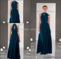 dark teal chiffon bridesmaid dresses 2016-2017   B2B Fashion