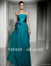Dark Teal Chiffon Bridesmaid Dresses