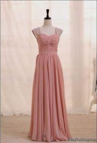 dusty rose chiffon bridesmaid dresses 2016-2017 | B2B Fashion