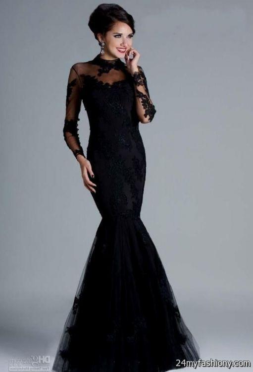 elegant black dresses 2016