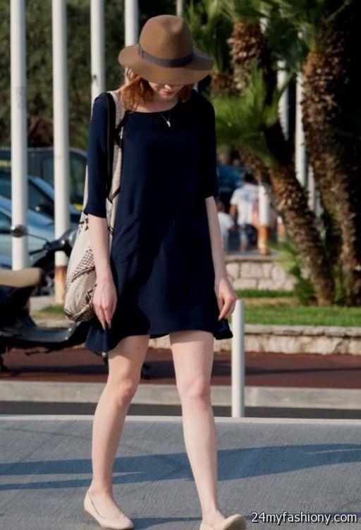 emma stone casual dresses looks  B2B Fashion