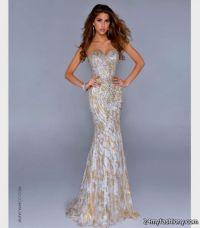 gold and white mermaid prom dress 2016-2017 | B2B Fashion