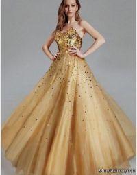 gold ball gown prom dresses 2016-2017 | B2B Fashion