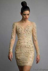 Gold Cocktail Dress With Sleeves | www.pixshark.com ...