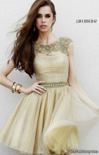 gold cocktail dress with sleeves 2016-2017 | B2B Fashion