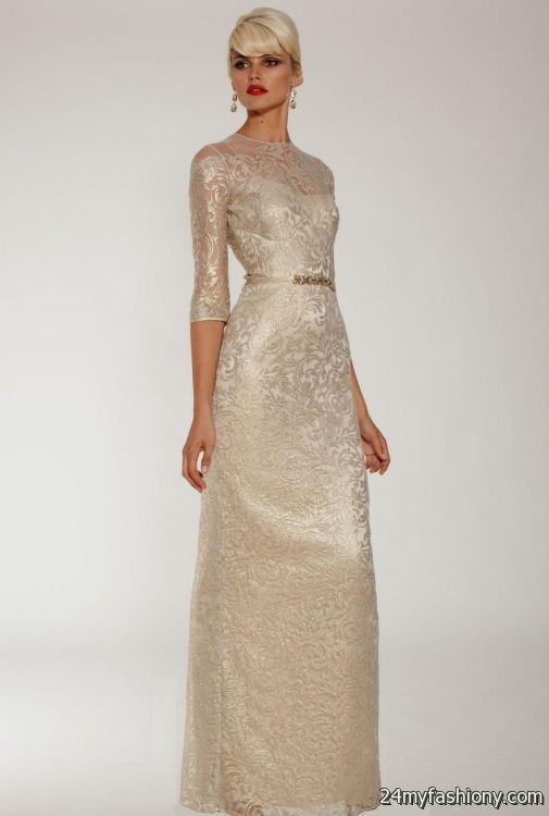 gold evening gowns with sleeves 2016-2017 | B2B Fashion
