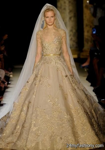 Gold wedding dress 20172018  B2B Fashion