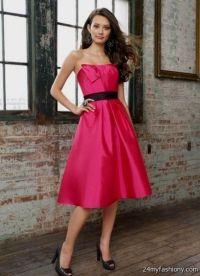 hot pink and black bridesmaid dresses 2016-2017 | B2B Fashion