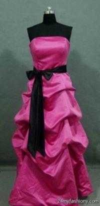 Hot Pink And Black Bridesmaid Dresses | www.imgkid.com ...