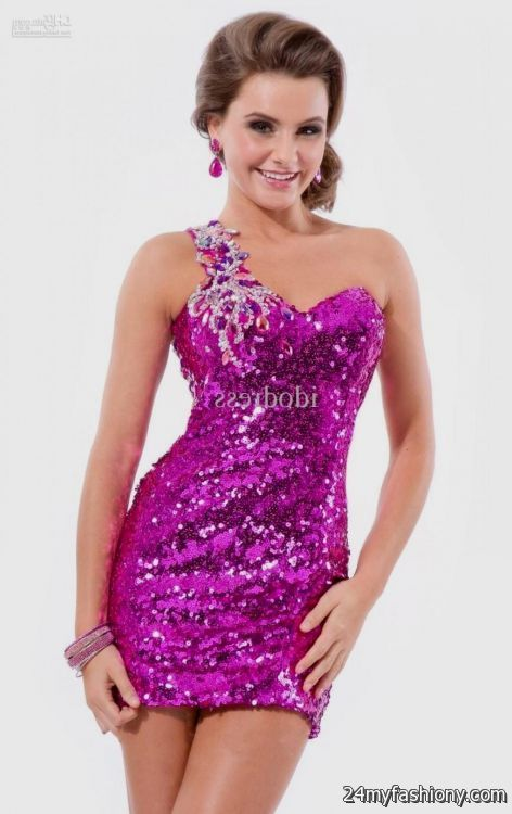 hot pink sequin cocktail dress 2016-2017 » B2B Fashion