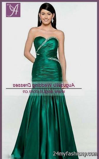 hunter green mermaid prom dress 2016-2017 » B2B Fashion
