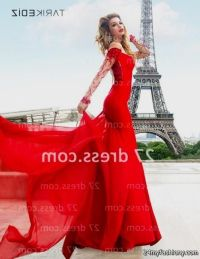 long red prom dresses with sleeves 2016-2017 | B2B Fashion